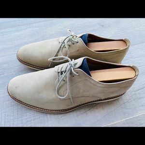 ❤️ Aldo Men's Oxford beige suede laced dress shoes